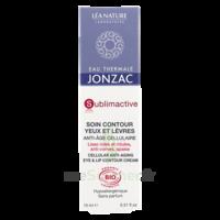 Jonzac Eau Thermale Sublimactive Crème Soin Contour Yeux Lèvres Jeunesse Immédiate 15ml à Libourne