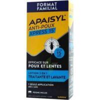 Apaisyl Anti-poux Xpress 15' Lotion Antipoux Et Lente 200ml+peigne à Libourne