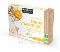 Nat&form Ampoules Solution Buvable Tonus Vitalité Bio 20 Ampoules/10ml à Libourne