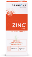 Granions Zinc 15mg Gélules B/60 à Libourne