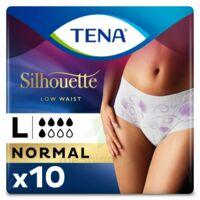 Tena Lady Silhouette Slip Absorbant Blanc Normal Large Paquet/10 à Libourne